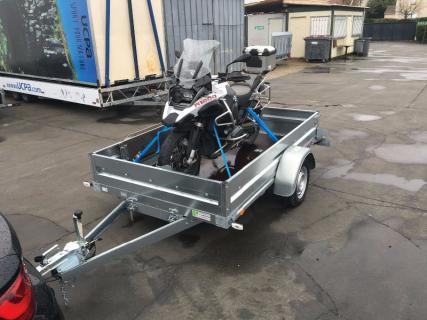 REMORQUE PLATEAU ET PORTE MOTO ERDE EXPERT PLM 150