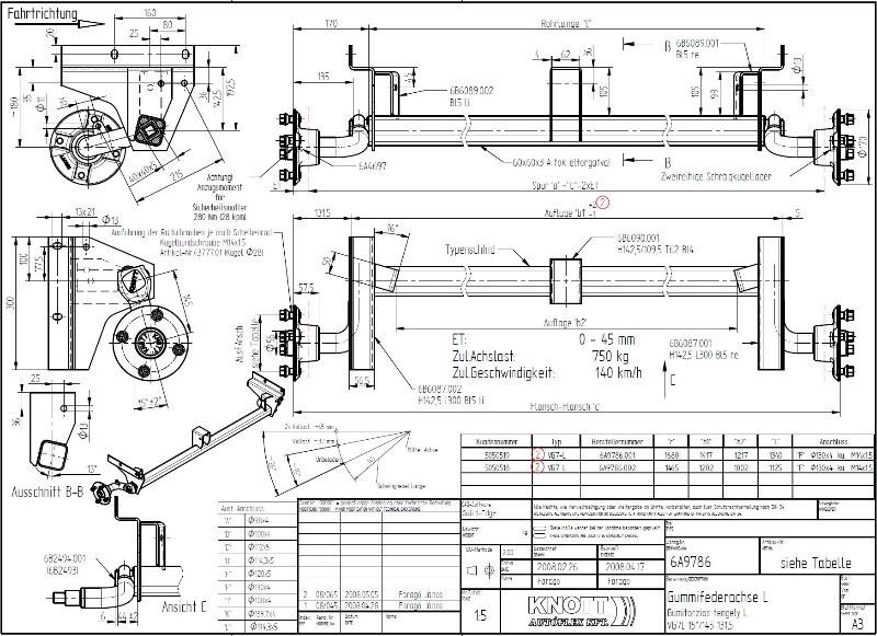 essieu dbd trigano largeur 1200 essieu t 5050518 trigano. Black Bedroom Furniture Sets. Home Design Ideas