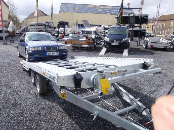 Produits remorque porte voiture humbaur 4072 le mans - Remorque plateau porte voiture occasion ...