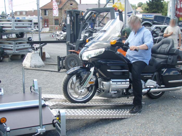 Rampe de chargement alu l 190 cm rampe alu l 190 cm patrick remorques patrick remorques for Rampe dacces moto