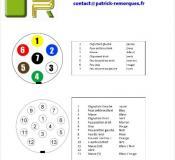 PLAN BRANCHEMENT PRISE 7 ET 13 PLOTS pour voiture et remorques